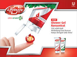 Sabun Lifebuoy lifebuoy clini shield 10 shower gel konsentrat cukup 1 tetes