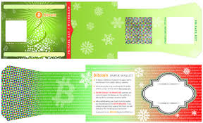 themed paper themed paper bitcoin wallets christmas new year