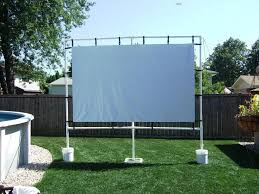 backyard projector screen material home outdoor decoration