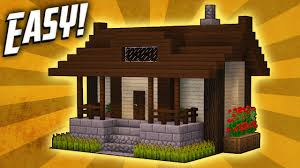 Build A Small Home Minecraft How To Build A Small Survival House Tutorial 5 Youtube