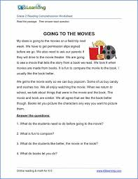 reading comprehension test for grade 4 printable reading comprehension worksheets inc exercises for
