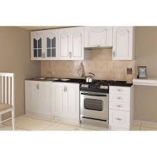 cuisine equipee blanche blanc cuisine complète 240 cm achat vente cuisine