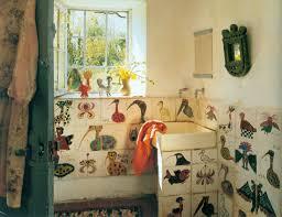 so why not paint a few weird birds on the bathroom tiles home of