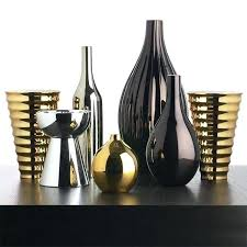 interior design accessories cool and colorfull silver plated glass