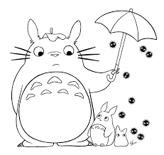 totoro coloring pages totoro colouring page colouring pinterest
