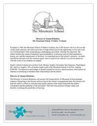 of alumni search mountain school of milton academy director of alumni relations