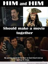 Funny Movie Memes - movie with depp and downey jr
