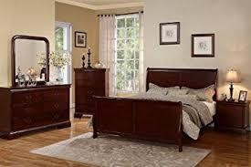 amazon com louis phillipe cherry queen size bedroom set featuring