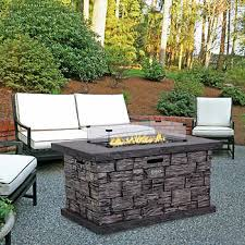 patio table with fire pit fire pit costco