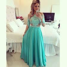 online get cheap green chiffon long prom dresses aliexpress com