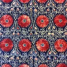 home decorator fabrics online di08 navy blue u0026 red suzani medallion geometric geo drapery home