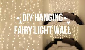 How To Hang Curtains Around Bed by Diy Fairy Light Wall Youtube