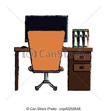 equipement bureau espace bureau équipement conception lieu travail dessin