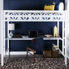 Twin Over Twin Loft Bed by Bentley Twin Over Metal Loft Bed With Workstation White By