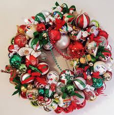 22 traditional glass ornament wreath santa