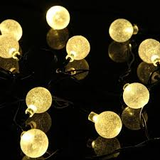 globe shaped outdoor lighting le solaire waterproof led string bubble ball christmas garland