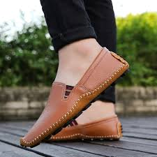 Comfortable Moccasins Men Leather Shoes Casual Oxfords Luxury Brand Loafers Soft And