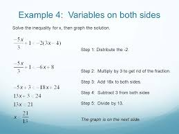solving linear inequalities included in this presentation