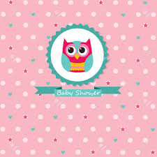 pink owl baby shower invitations baby shower invitation royalty free cliparts vectors and stock