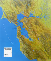 Map Of San Francisco Area Raised Relief Map Of San Francisco Bay