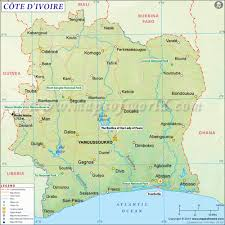 West Africa Map Quiz by Cote D U0027ivoire Ivory Coast Map