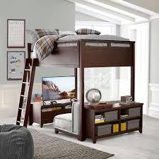 Loft Bed Frames Hton Convertible Loft Bed Pbteen