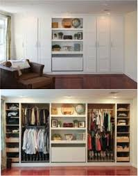 Diy Bedroom Storage Master Bedroom Closet Makeover Before And After Organizing
