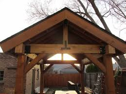 outdoor living space patio cover pergola cedar post and beam