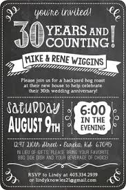 30th wedding anniversary party ideas anniversary party invitations marialonghi