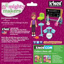 engineering toys for girls knex where creativity clicksa jess jammin garage building