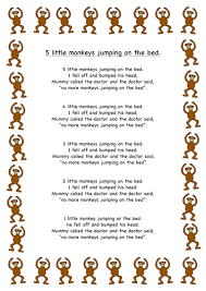 No More Monkeys Jumping On The Bed Song 5 Little Monkeys Jumping On The Bed Storymat Eyfs C U0026l Story