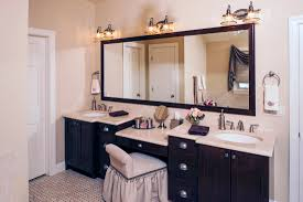 double sink vanity with makeup table trends including bathroom