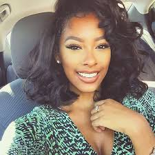 short loose wave hairstyle stylist feature love this bob on aliyahraey originally
