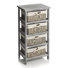 storage unit with wicker baskets buy 6 drawer plastic wide storage tower unit silver at argos co