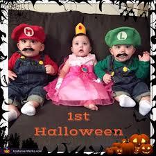 Mario Luigi Halloween Costume Mario Luigi Princess Peach Baby Costumes