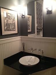 Small Powder Room Decorating Ideas Pictures Oval Shape White Sink Powder Room Tile Designs White Sink Vanity