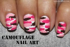 real asian beauty camouflage nail art