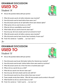 used to all things grammar
