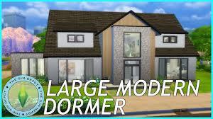 Modern Dormer The Sims 4 House Build Large Modern Dormer Youtube