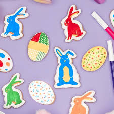 where to buy edible markers color me easter shaped cookie canvas with edible markers
