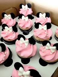 minnie mouse ears and bow cupcake by thevintagevanilla on etsy