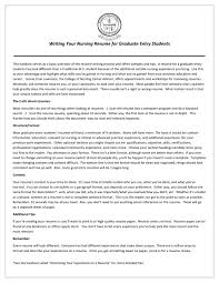 Student Nurse Resume Examples by How To Write A Nursing Resume New Grad Resume For Your Job