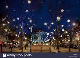 christmas lights outside peter jones sloane square london uk