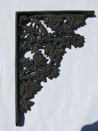 Corbel Shelf Brackets Cast Iron Hardware Shelves Supports Floral Pattern Corbel Shelf