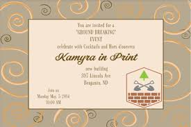 Party Invitation Card Template Grand Opening Invitations And Ground Breaking Invitations New