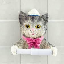 aliexpress com buy new handmade resin cute cat toilet paper