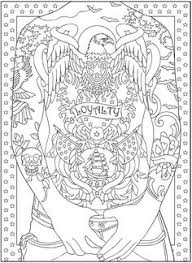 free art coloring pages body art tattoo colouring pages free samples dover publications