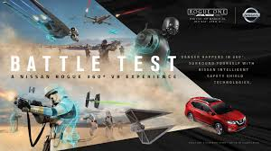 nissan rogue star wars nissan rogue stars in immersive star wars themed 360 degree