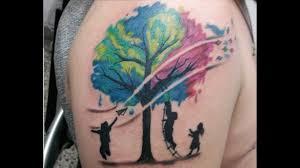 watercolor tree arbol acuarelado