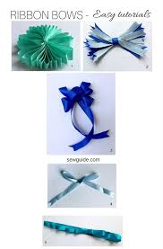 ribbon bows how to make a bow with ribbon 7 easy diy tutorials sew guide